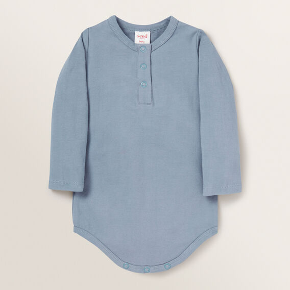 Henley Bodysuit  DENIM BLUE  hi-res