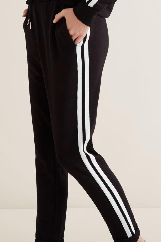 Double Stripe Trackies  BLACK  hi-res