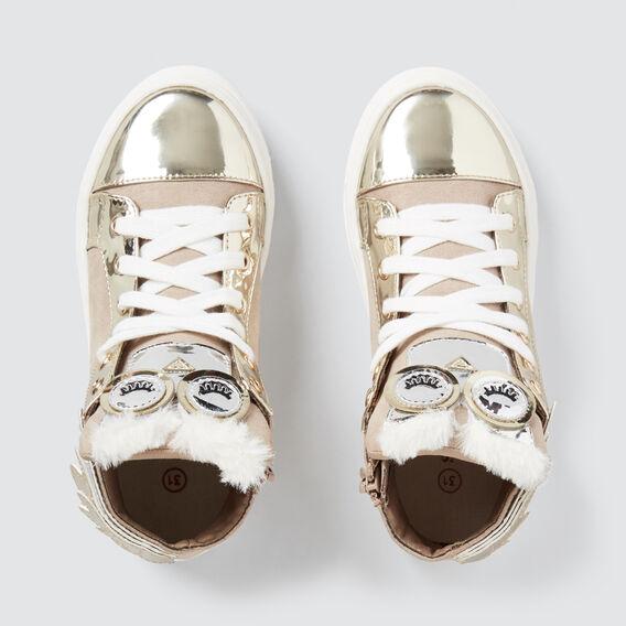 Owl Hightop Sneakers  GOLD  hi-res