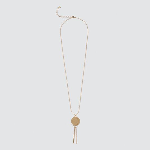 Long Pendant Necklace  GOLD  hi-res