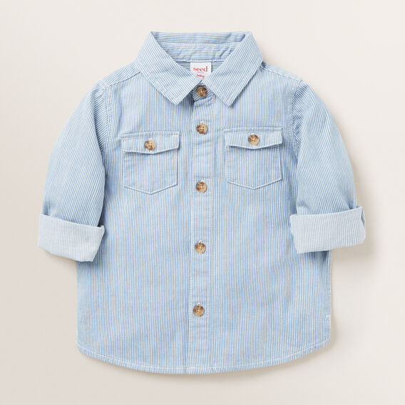 Stripe Denim Shirt  FADED BLUE  hi-res
