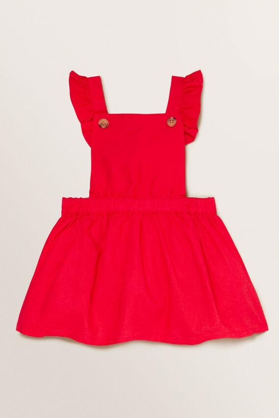 Linen Pinafore  APPLE RED  hi-res