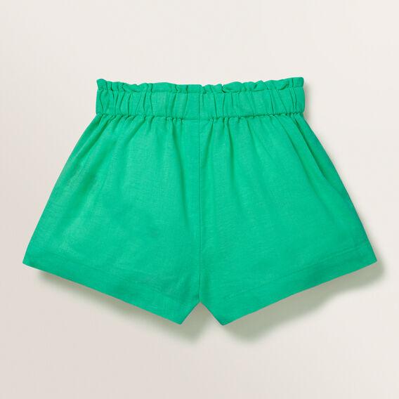 Linen Shorts  APPLE GREEN  hi-res