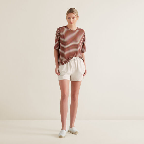 Paper Bag Tie Up Shorts  LIGHT TAUPE  hi-res