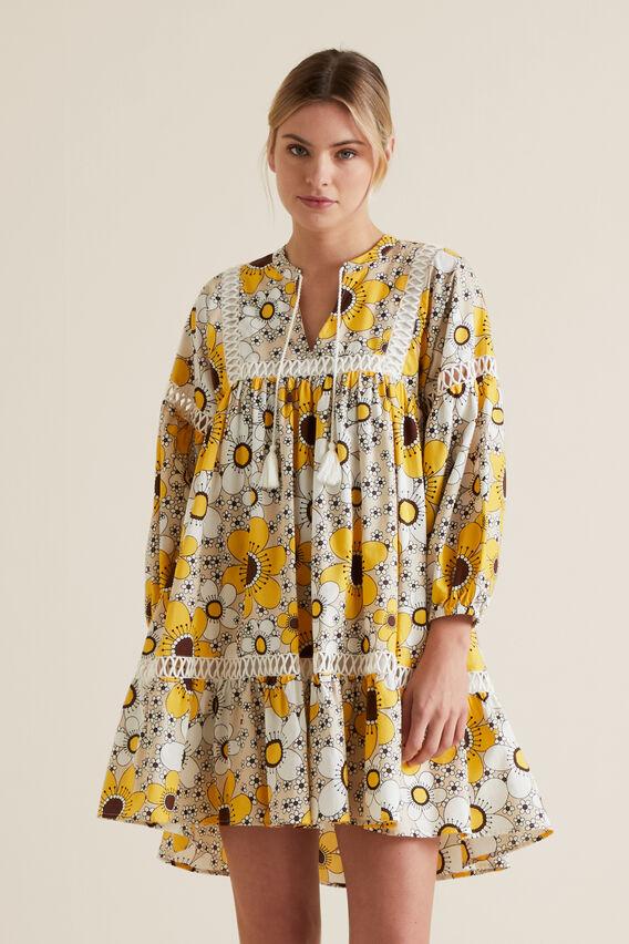 Retro Floral Dress  VINTAGE FLORAL  hi-res
