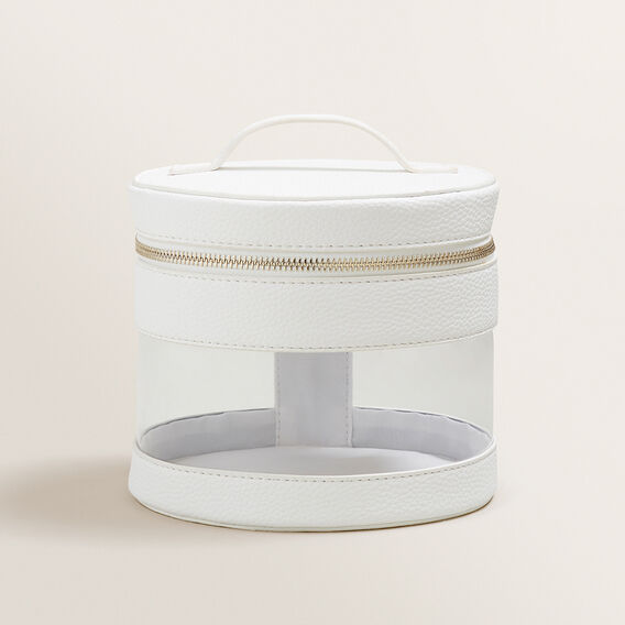 Round Cosmetic Case  WHITE  hi-res
