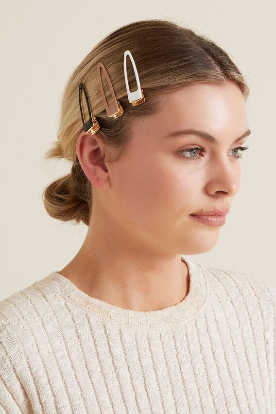 Enamel Hair Clips  MULTI  hi-res
