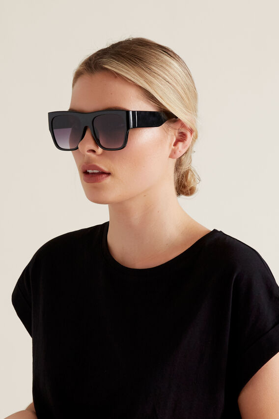 Kim Flat Top Sunglasses  BLACK  hi-res