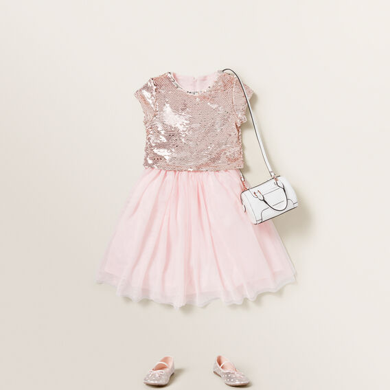 Sequin Cropped Tee  ICE PINK  hi-res