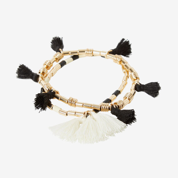 Mixed Stretch Tassel Bracelet  GOLD  hi-res