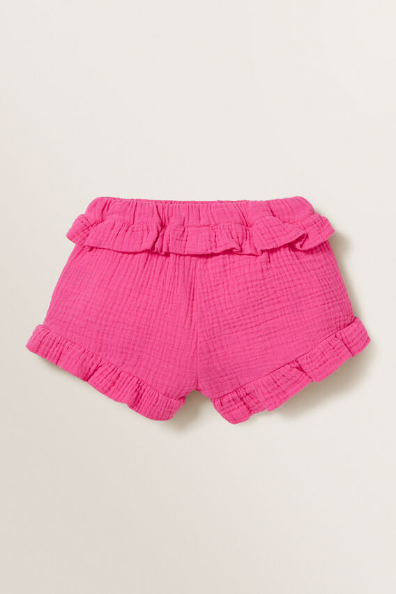 Cheesecloth Shorts  FUCHSIA  hi-res