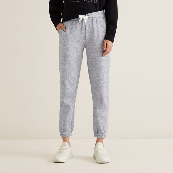 Fleece Trackies  GRANIT MARLE  hi-res
