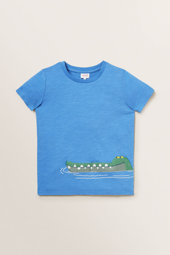 Novelty Croc Tee  CORNFLOWER BLUE  hi-res
