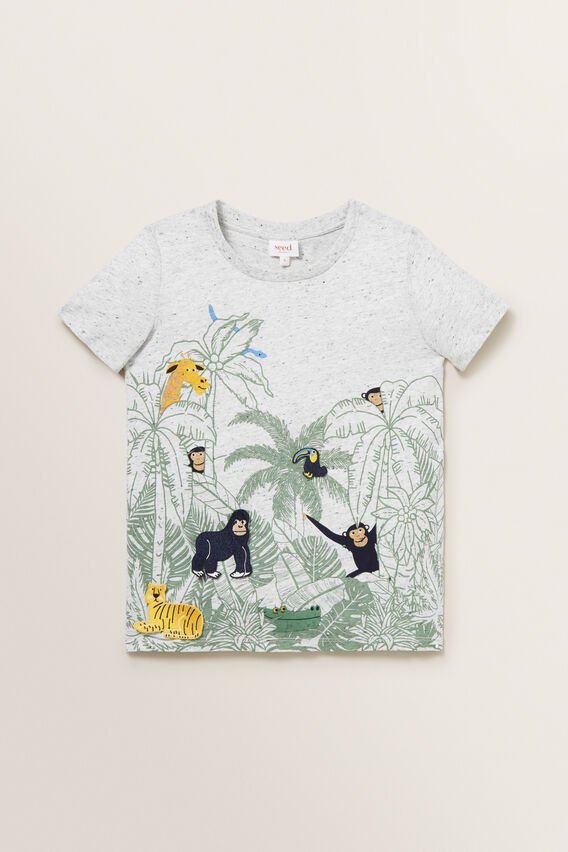 Patches Tee  CLOUDY MARLE  hi-res