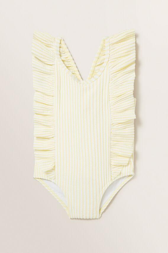 Stripe Seersucker Bather  LEMON SORBET  hi-res
