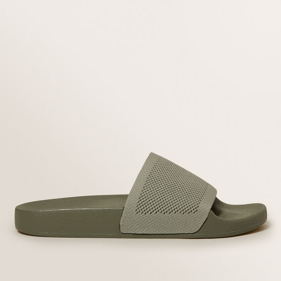 Knitted Slides  KHAKI  hi-res