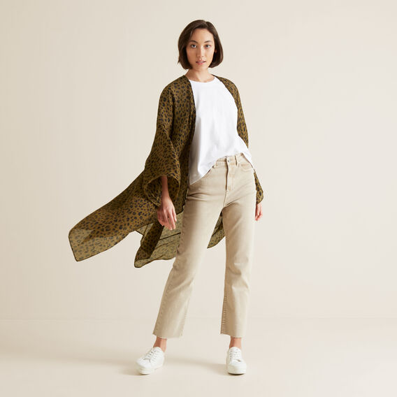 Pleated Summer Poncho  RICH MOSS  hi-res