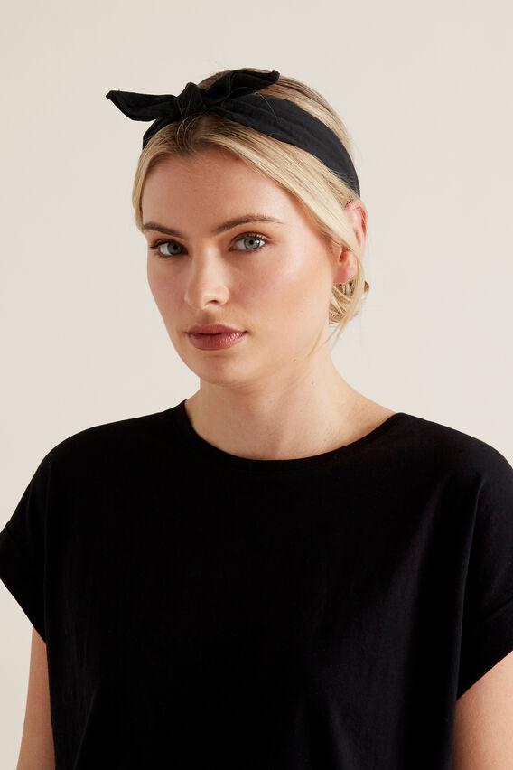 Skinny Bow Headband  BLACK  hi-res