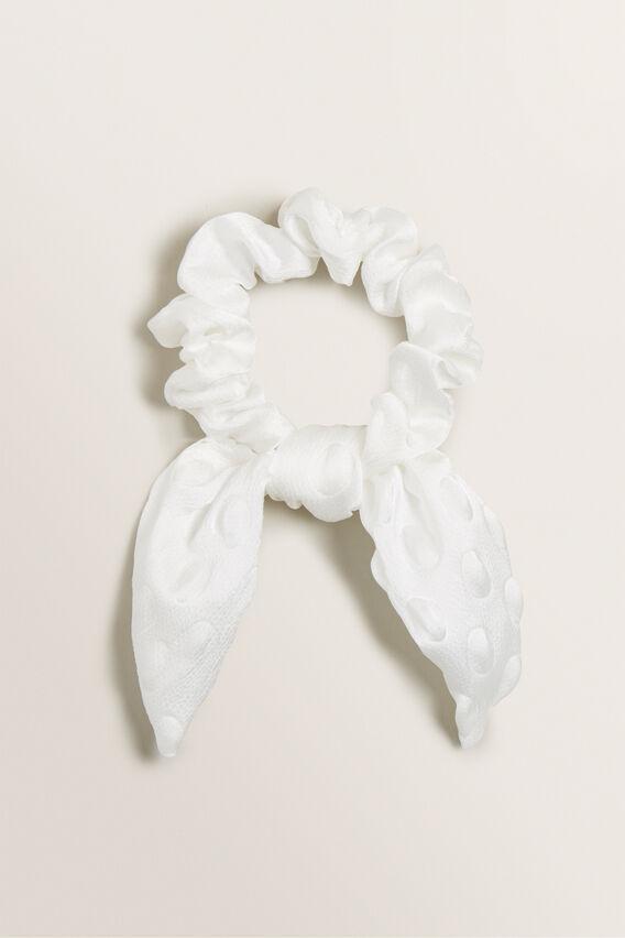 Knot Scrunchie  WHITE  hi-res