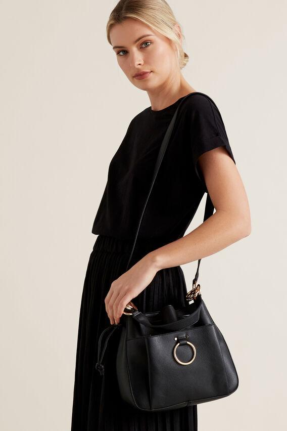 Ring Detail Bucket Bag  BLACK  hi-res