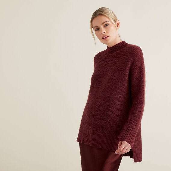 Mohair Knit  DEEP CRIMSON  hi-res