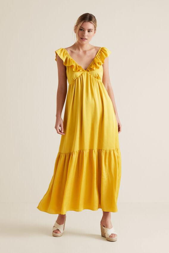 Frill Maxi Dress  GOLD RUSH  hi-res