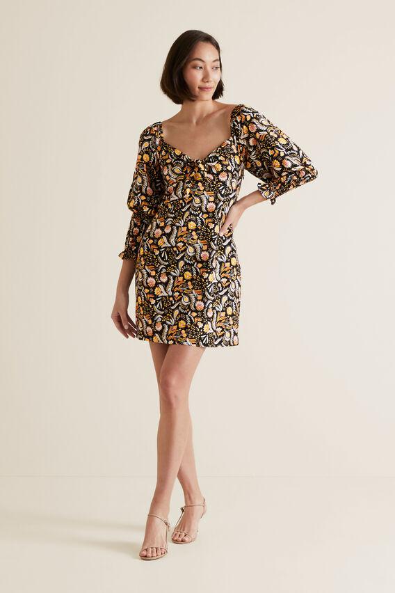 Puff Sleeve Dress  VINTAGE PAISLEY  hi-res