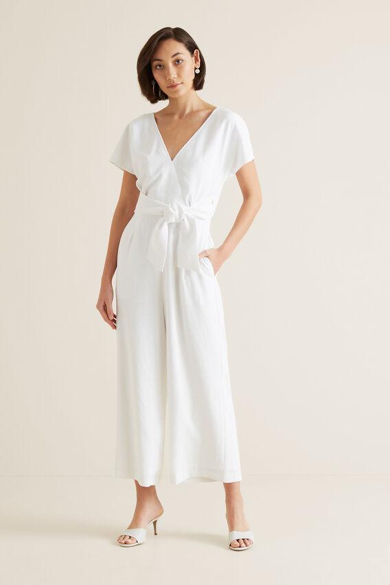 Wrap Front Jumpsuit  WHISPER WHITE  hi-res