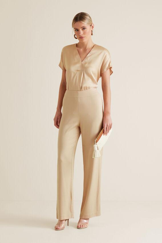 Flat Front Trouser  SOFT BEIGE  hi-res