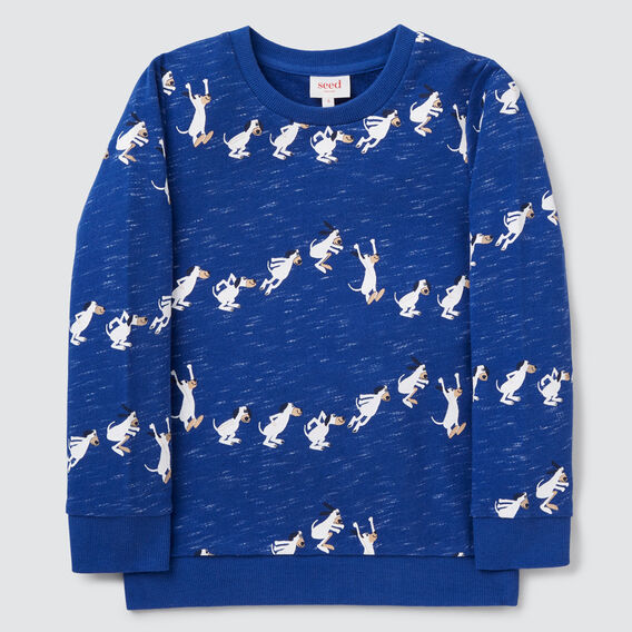 Jumping Yardgae Sweater  DEEP COBALT  hi-res