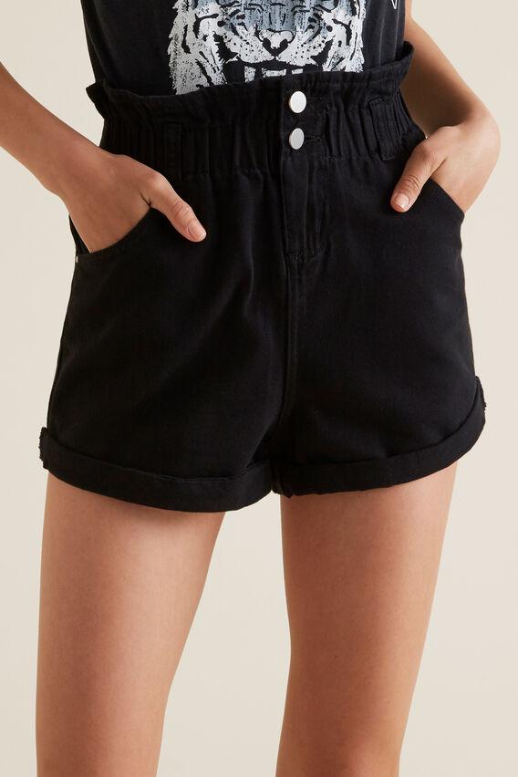 Paperbag Shorts  BLACK  hi-res