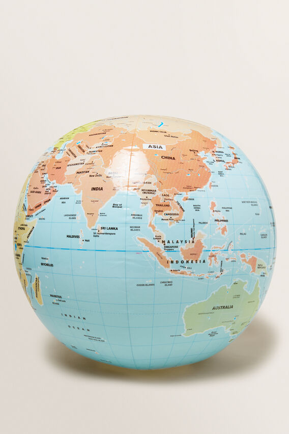 World Globe Inflatable Ball  MULTI  hi-res