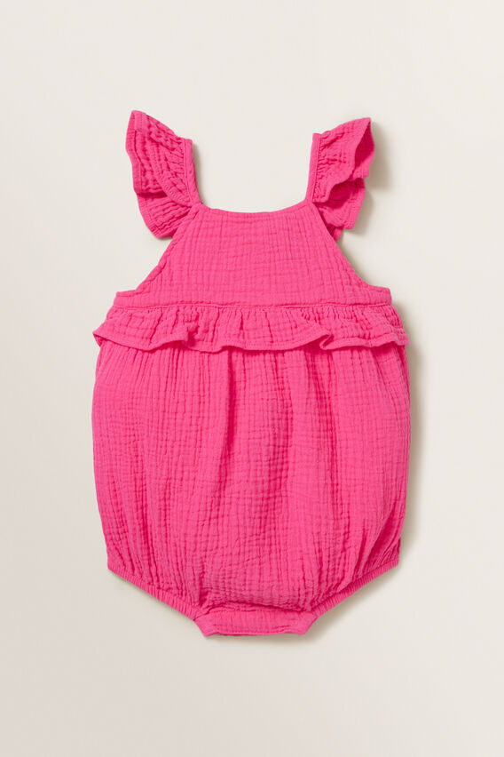 Cheesecloth Romper  FUCHSIA  hi-res