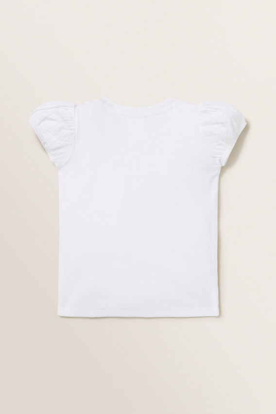 Puff Sleeve Tee  WHITE  hi-res