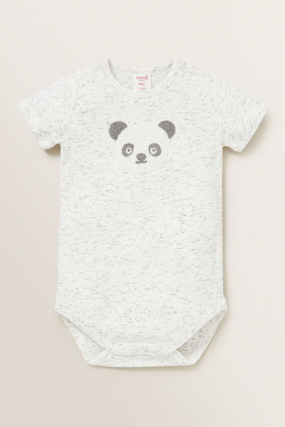 Panda Bodysuit  CANVAS SPACE DYE  hi-res