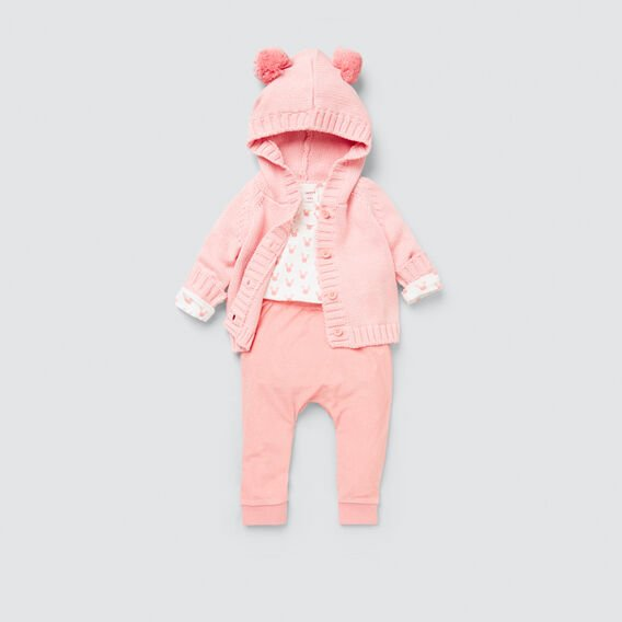 Bunny Yardage Frill Bodysuit  DUSTY PINK  hi-res