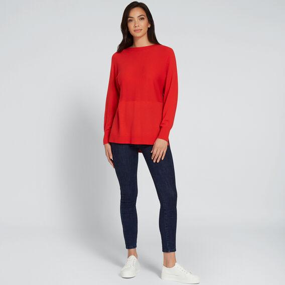 Splice Sweater  FIERY RED  hi-res