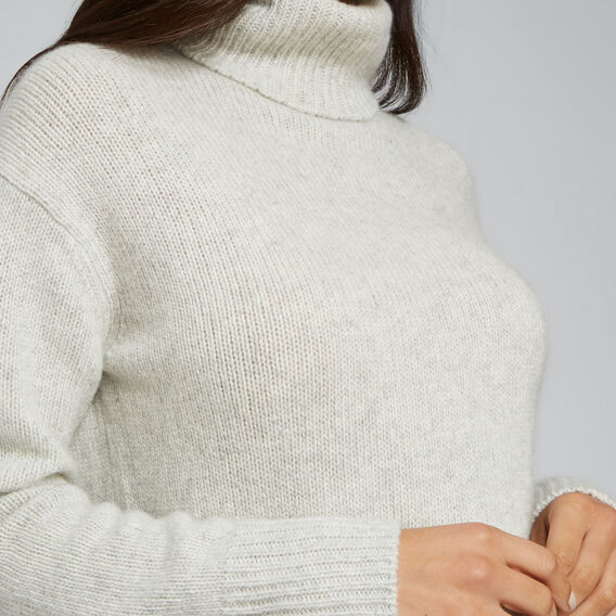 Cashmere Roll Neck Knit  LIGHT ASH MARLE  hi-res