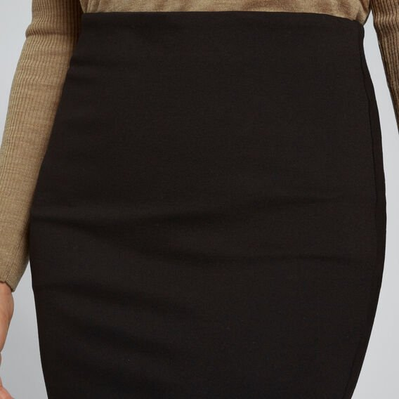 Side Split Ponte Skirt  BLACK  hi-res