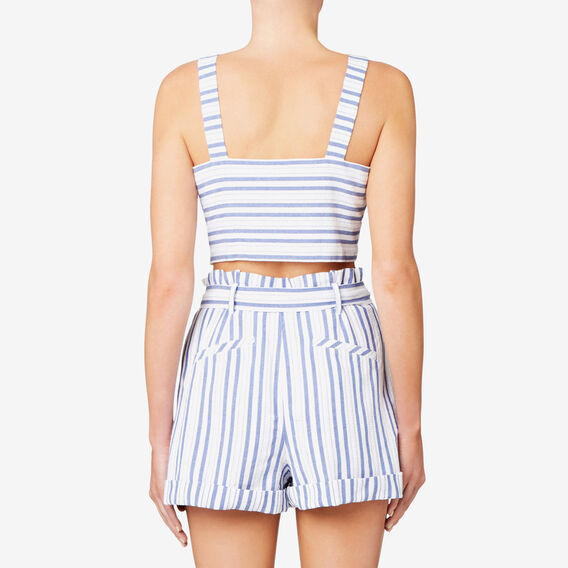 Peek A Boo Crop Top  STRIPE  hi-res