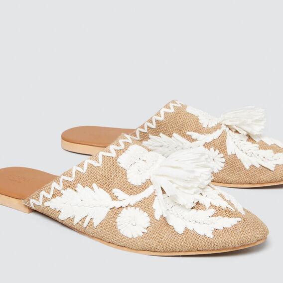 Embellished Mule  WHITE  hi-res