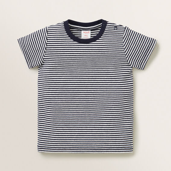 Rib Tee  BLUE STRIPE  hi-res