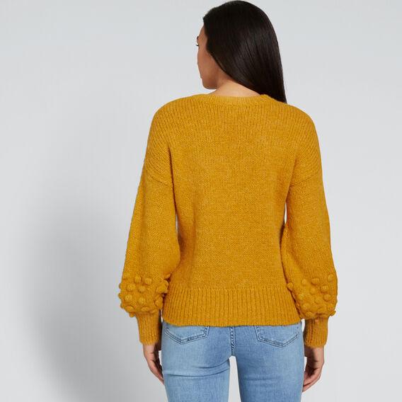 Blouson Pom Pom Sweater  GOLDEN MUSTARD  hi-res