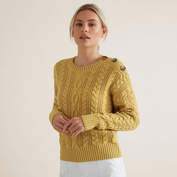 Cable Knit Sweater  DUSTY MARIGOLD  hi-res