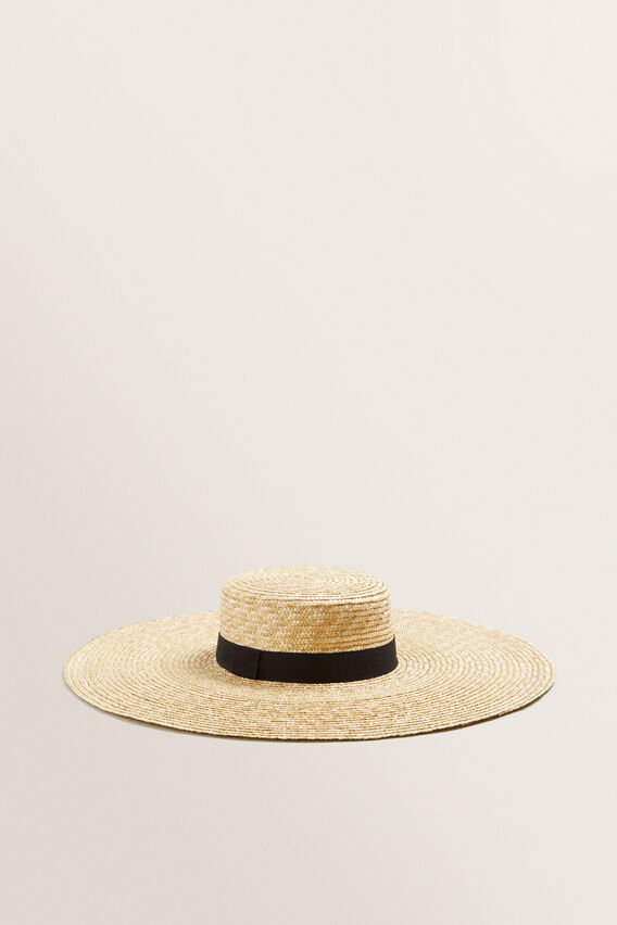 Wide Brim Boater  NATURAL  hi-res
