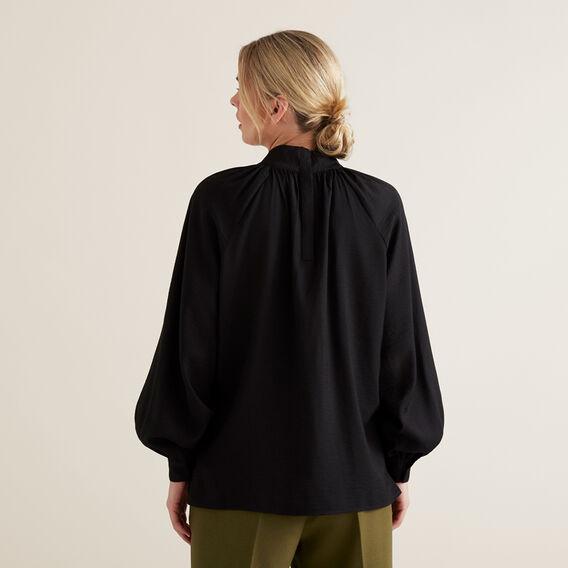 High Neck Blouson Shirt  BLACK  hi-res