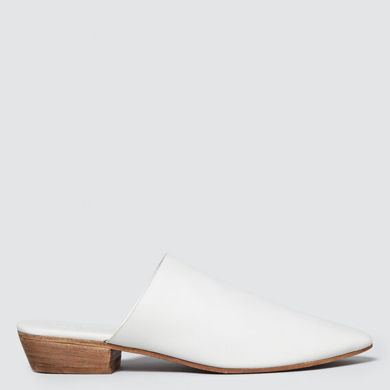 Kennedy Mule  WHITE  hi-res