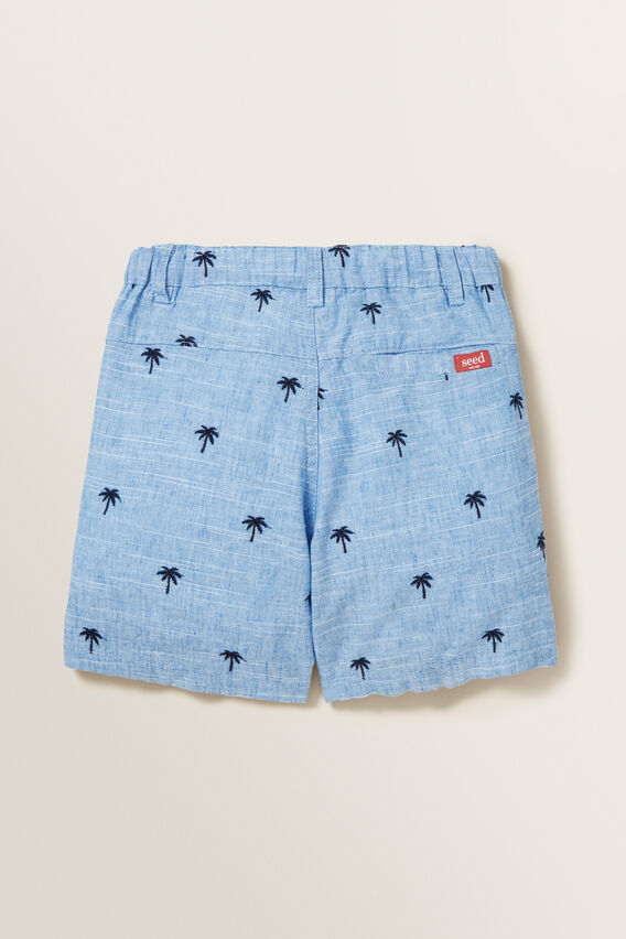 Palm Embroidered Short  CORNFLOWER BLUE  hi-res