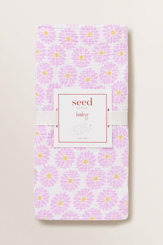 Daisy Muslin Wrap  ORCHID  hi-res