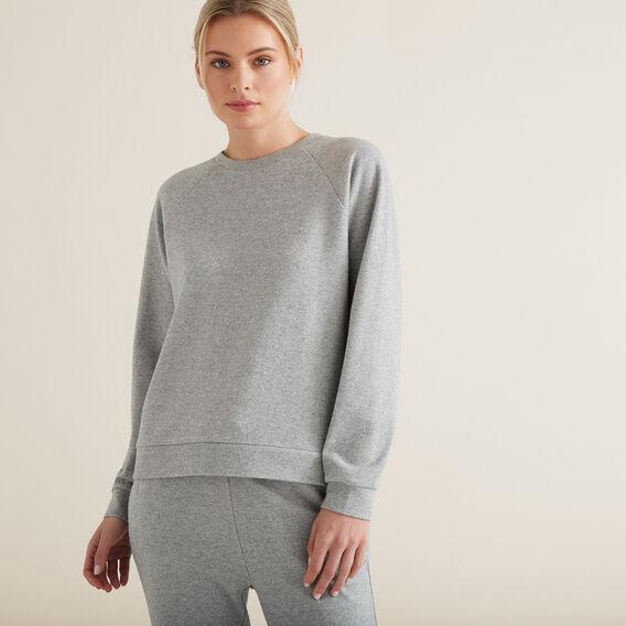 Raglan Cosy Sweater  MID GREY MARLE  hi-res